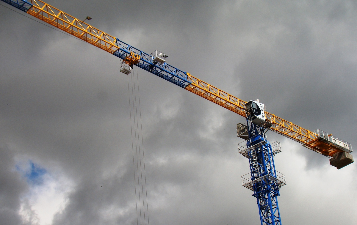 Rental of tower cranes, sections and anchor frames